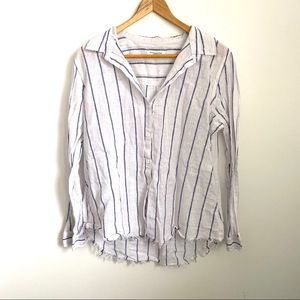 beachlunchlounge Linen Striped Button Down